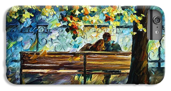 Afremov iPhone 6 Plus Case - Date On The Bench by Leonid Afremov