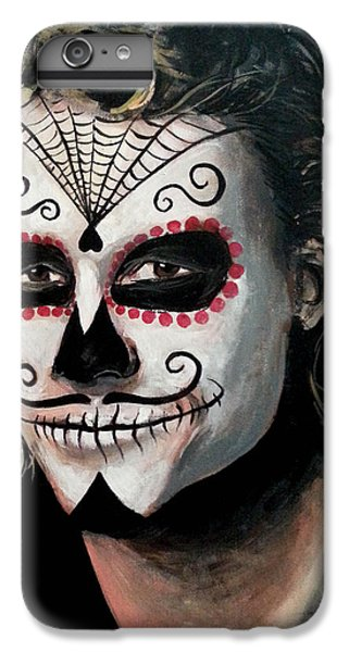Day Of The Dead - Heath Ledger IPhone 6 Plus Case by Tom Carlton