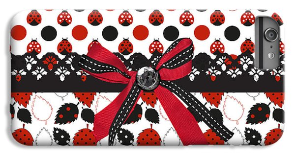 Dazzling Ladybugs  IPhone 6 Plus Case by Debra  Miller