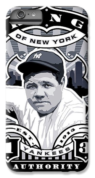 Dcla Babe Ruth Kings Of New York Stamp Artwork IPhone 6 Plus Case by David Cook Los Angeles