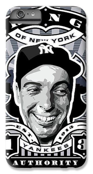 Dcla Joe Dimaggio Kings Of New York Stamp Artwork IPhone 6 Plus Case by David Cook Los Angeles