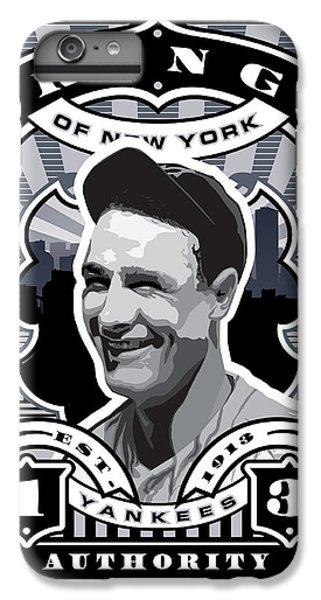 Dcla Lou Gehrig Kings Of New York Stamp Artwork IPhone 6 Plus Case by David Cook Los Angeles