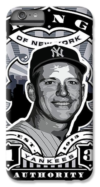 Dcla Mickey Mantle Kings Of New York Stamp Artwork IPhone 6 Plus Case by David Cook Los Angeles