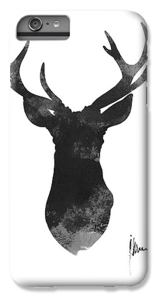 Deer iPhone 6 Plus Case - Deer Antlers Watercolor Painting Art Print by Joanna Szmerdt