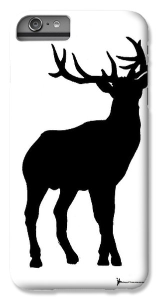 Deer iPhone 6 Plus Case - Deer Figurine Silhouette Watercolor Art Print Painting by Joanna Szmerdt