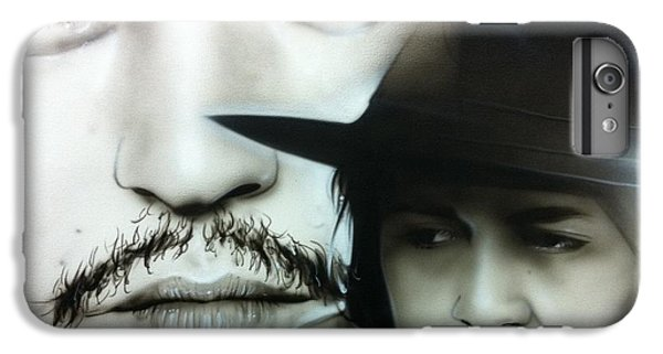 Johnny Depp - ' Depp ' IPhone 6 Plus Case by Christian Chapman Art