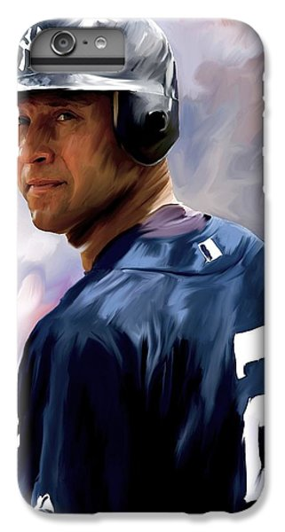 Derek Jeter  IPhone 6 Plus Case by Iconic Images Art Gallery David Pucciarelli