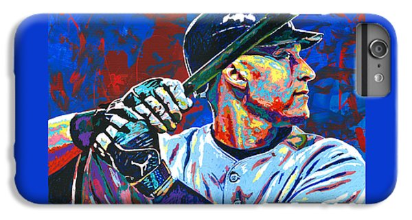 Derek Jeter IPhone 6 Plus Case by Maria Arango