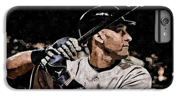 Derek Jeter On Canvas IPhone 6 Plus Case by Florian Rodarte