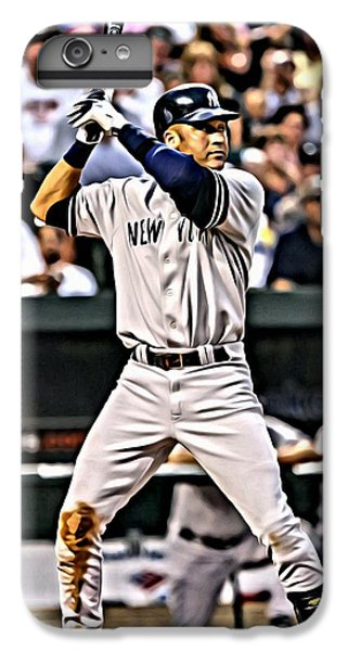 Derek Jeter Painting IPhone 6 Plus Case by Florian Rodarte