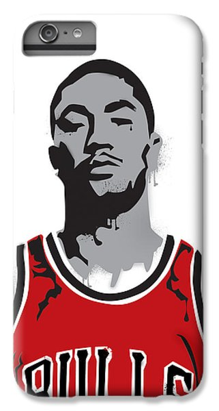 Derrick Rose IPhone 6 Plus Case by Mike Maher