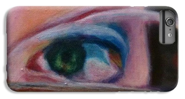 Detail iPhone 6 Plus Case - Detail From Portrait Of Chrissy An Acrylic Painting By Anna Porter Artist by Anna Porter