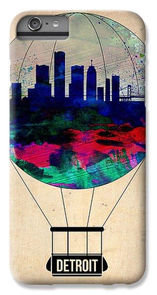 City Scenes iPhone 6 Plus Case - Detroit Air Balloon by Naxart Studio