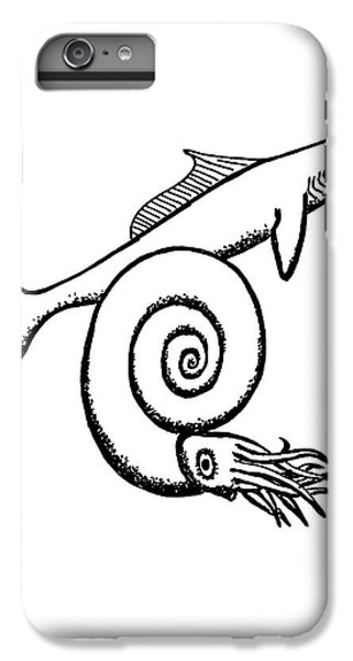 Devonian Shark And Ammonoid IPhone 6 Plus Case by Richard Bizley