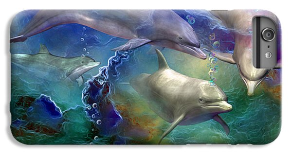 Dolphin Dream IPhone 6 Plus Case by Carol Cavalaris