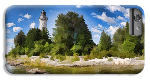 Door County Cana Island Lighthouse Panorama IPhone 6 Plus Case