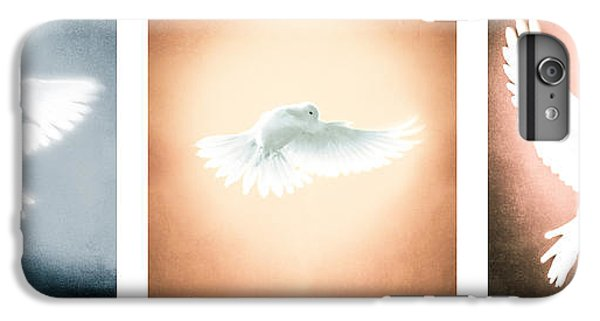 Dove In Flight Triptych IPhone 6 Plus Case by YoPedro