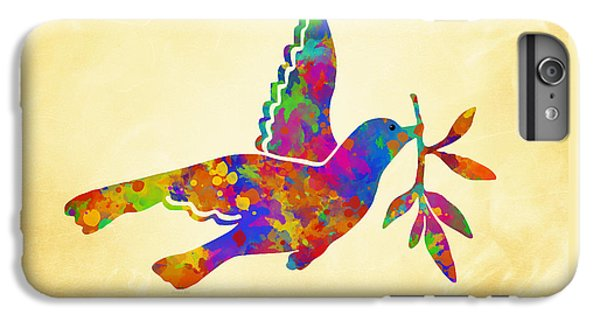 Dove With Olive Branch IPhone 6 Plus Case by Christina Rollo