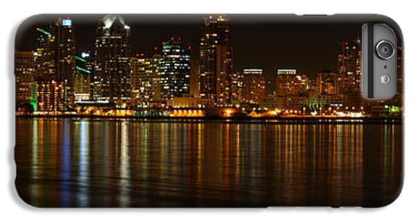 IPhone 6 Plus Case featuring the photograph Downtown San Diego At Night From Harbor Drive by Nathan Rupert