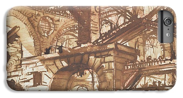 Drawing Of An Imaginary Prison IPhone 6 Plus Case by Giovanni Battista Piranesi