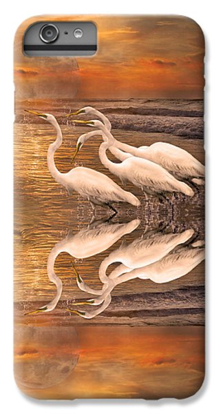 Dreaming Of Egrets By The Sea Reflection IPhone 6 Plus Case by Betsy Knapp