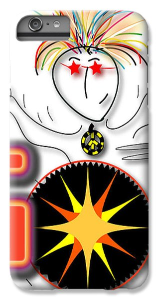 IPhone 6 Plus Case featuring the drawing Drummer Spike by Marvin Blaine