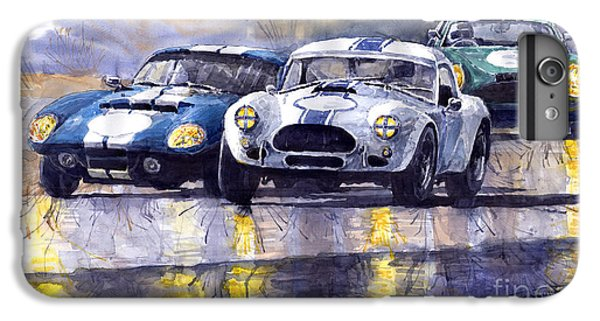 Duel Ac Cobra And Shelby Daytona Coupe 1965 IPhone 6 Plus Case by Yuriy  Shevchuk