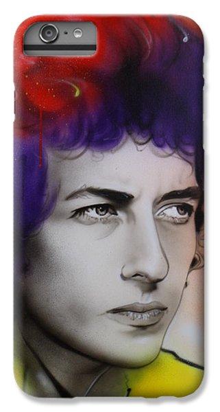 Bob Dylan - ' Dylan ' IPhone 6 Plus Case by Christian Chapman Art