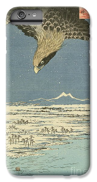 Eagle Over One Hundred Thousand Acre Plain At Susaki IPhone 6 Plus Case by Hiroshige