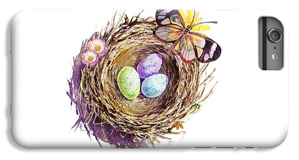 Easter Colors Bird Nest IPhone 6 Plus Case by Irina Sztukowski