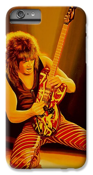 Eddie Van Halen Painting IPhone 6 Plus Case by Paul Meijering