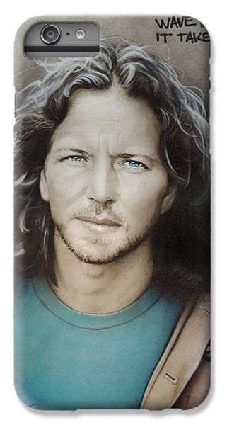 ' Eddie Vedder ' IPhone 6 Plus Case by Christian Chapman Art