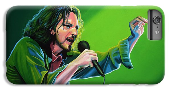 Eddie Vedder Of Pearl Jam IPhone 6 Plus Case by Paul Meijering