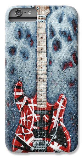 Rock And Roll iPhone 6 Plus Case - Eddie's Frankenstrat by Arturo Vilmenay