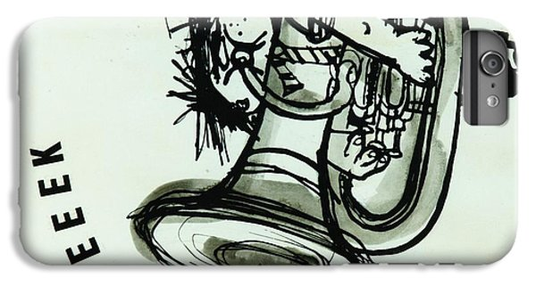 Trombone iPhone 6 Plus Case - Eeeeeeek! Ink On Paper by Brenda Brin Booker