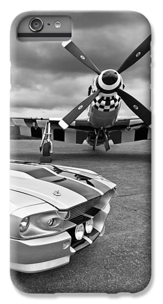 Eleanor Mustang With P51 Black And White IPhone 6 Plus Case by Gill Billington