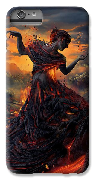 Athletes iPhone 6 Plus Case - Elements - Fire by Cassiopeia Art