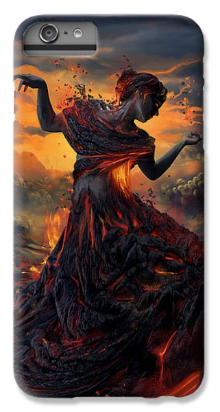 Beautiful iPhone 6 Plus Case - Elements - Fire by Cassiopeia Art