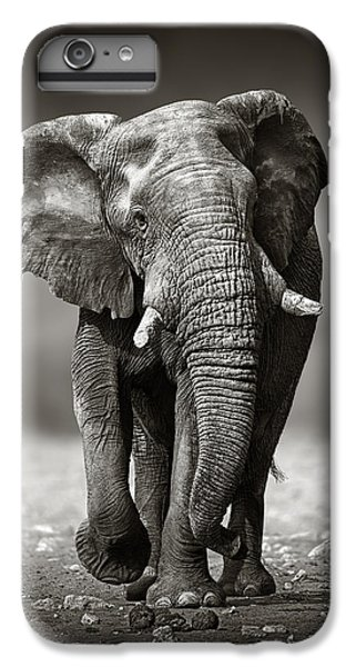 Animals iPhone 6 Plus Case - Elephant Approach From The Front by Johan Swanepoel