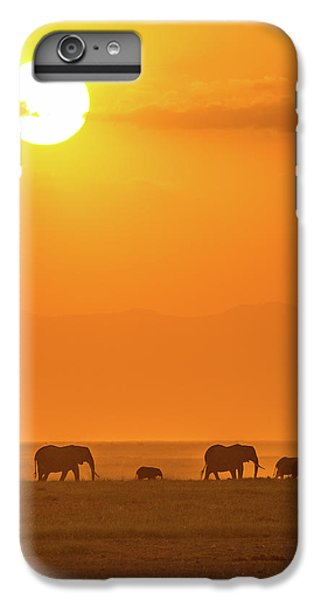 Africa iPhone 6 Plus Case - Elephants At Sunset by Ted Taylor
