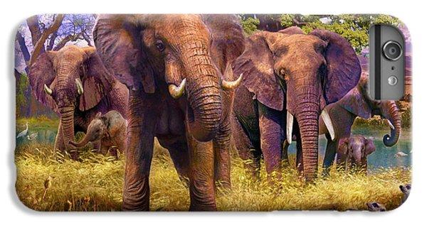 Meerkat iPhone 6 Plus Case - Elephants by Jan Patrik Krasny