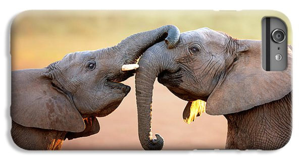 Africa iPhone 6 Plus Case - Elephants Touching Each Other by Johan Swanepoel