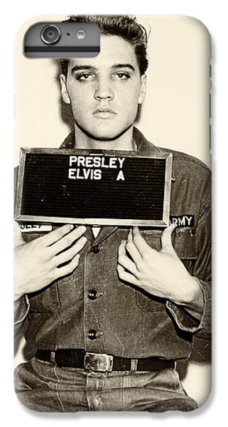 Elvis Presley - Mugshot IPhone 6 Plus Case by Bill Cannon