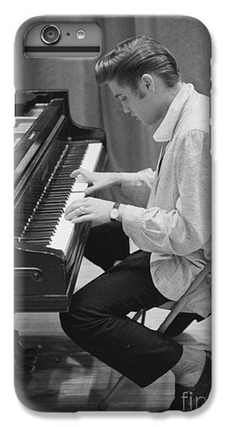 Musicians iPhone 6 Plus Case - Elvis Presley On Piano While Waiting For A Show To Start 1956 by The Harrington Collection