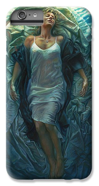 Figurative iPhone 6 Plus Case - Emerge Painting by Mia Tavonatti