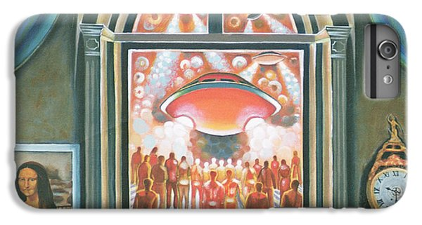 Space Ships iPhone 6 Plus Case - Eternity, 1968 Oil On Canvas by Radi Nedelchev
