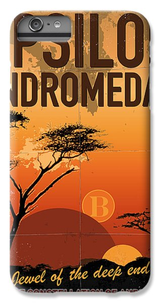 Aliens iPhone 6 Plus Case - Exoplanet 06 Travel Poster Upsilon Andromedae 4 by Chungkong Art