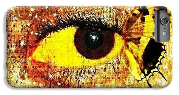 Edit iPhone 6 Plus Case - #eye #butterfly #brown #black #edit by Tatyanna Spears
