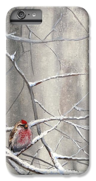 Eyeing The Feeder Alaskan Redpoll In Winter IPhone 6 Plus Case by Karen Whitworth