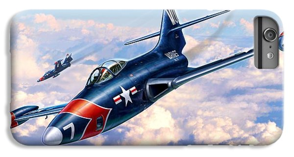 F9f-5p Photo Panthers IPhone 6 Plus Case by Stu Shepherd